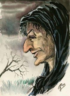 acuarela para una historia de brujas