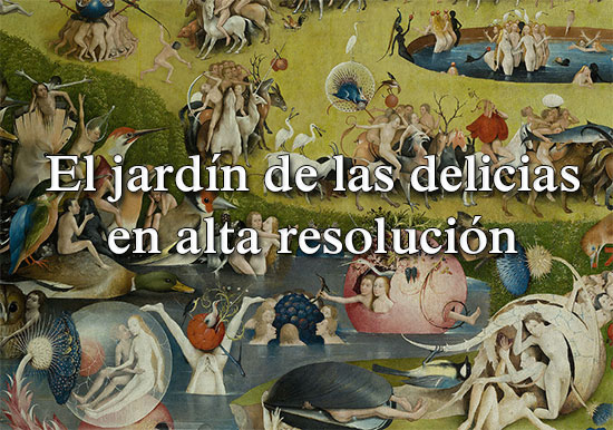 Encabezado del artículo sobre el jardín de las delicias terrenales de Hieronymus Bosch