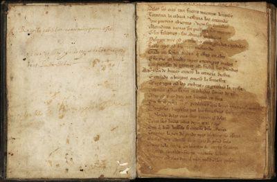Cantar de mio Cid expuesto en la Biblioteca Nacional