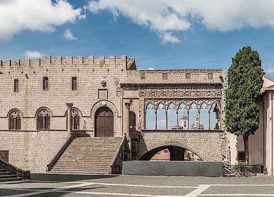 Palacio papal de Viterbo, donde encerraron el cánclave de cardenales