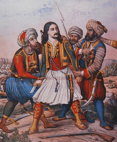 Athanasios capturado en la batalla de las Termópilas