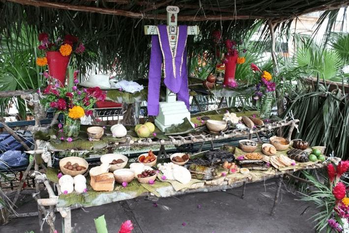 Altar de muertos para el Día de Muertos