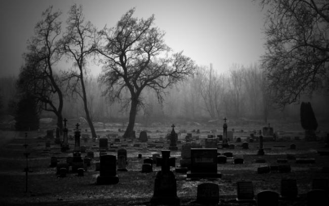 Cementerio como el que aparece en el célebre poema de Juan Rico y Amat
