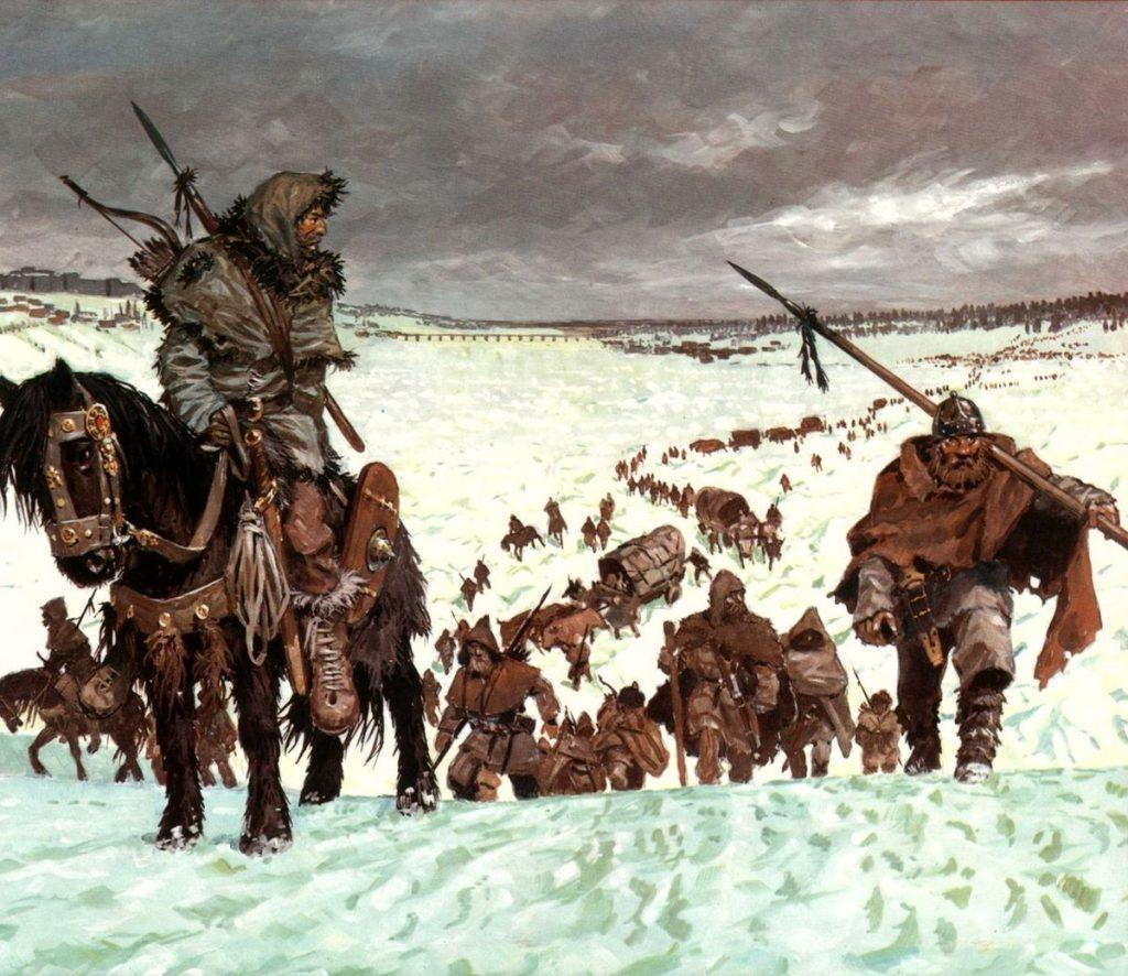 La penosa marcha de vándalos, suevos y alanos en pleno invierno para cruzar el Rin
