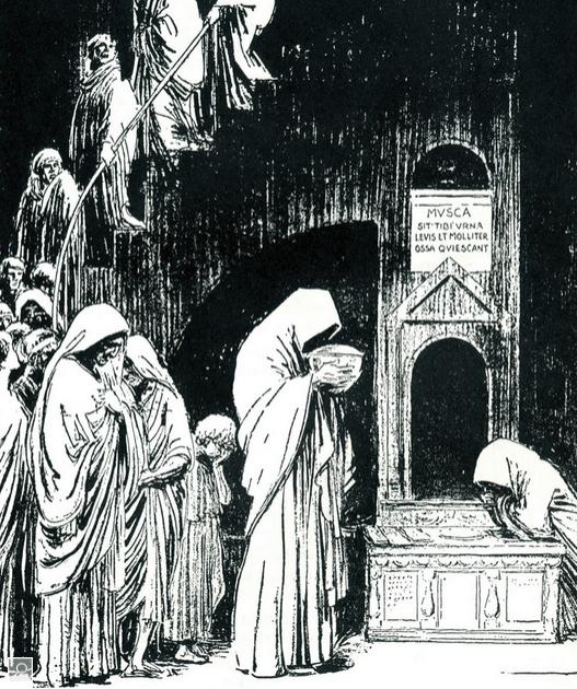 entierro de la mosca de Virgilio