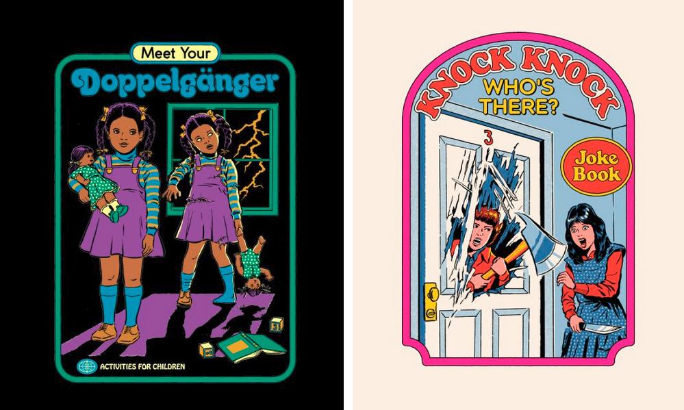 Las atrevidas ilustraciones de Steven Rhodes para impresión bajo demanda