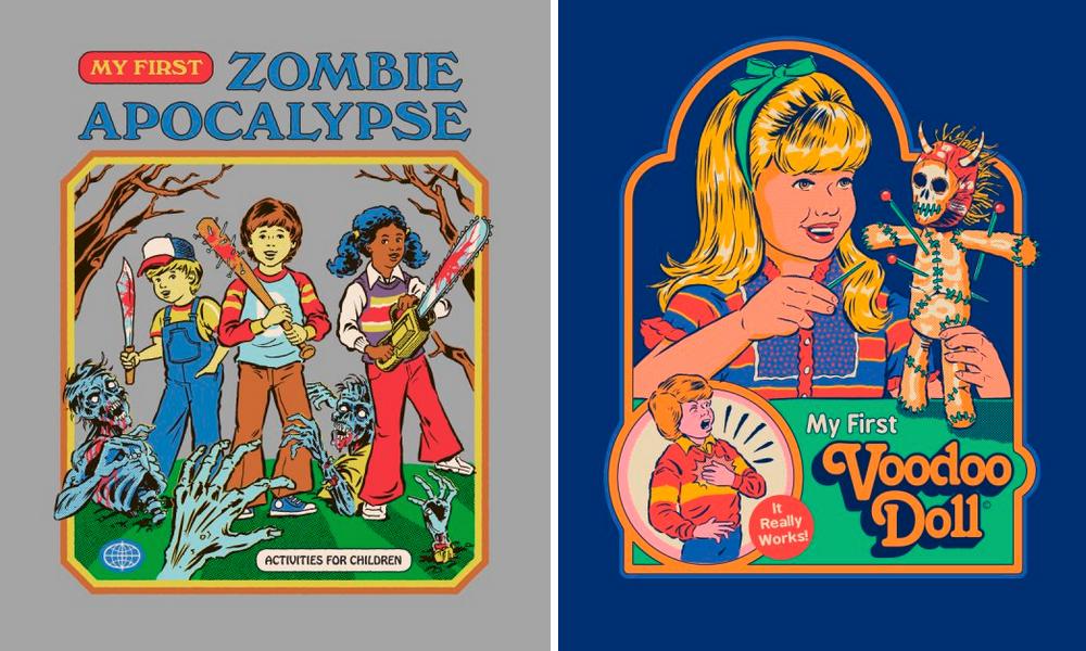 Diseños de las camisetas de Steven Rhodes